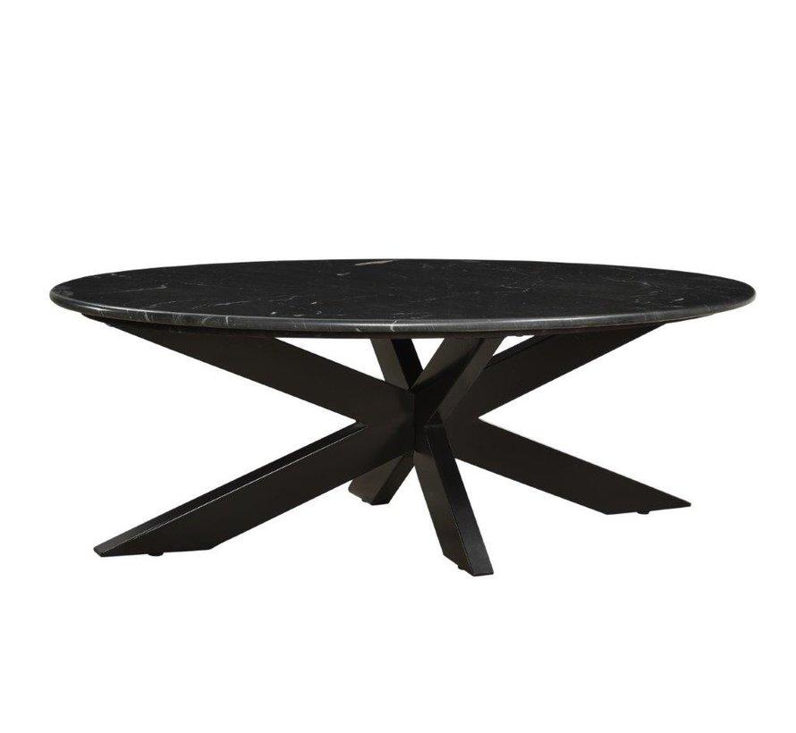 CT - Marble Oval Black 110cm