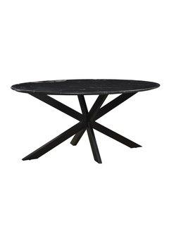 Livingfurn DT - Marble Oval Spider Black 180cm
