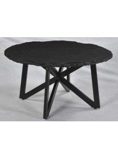 Livingfurn CT - Marble Round Tumbled Black 80cm