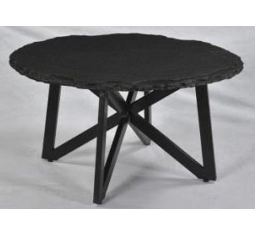 CT - Marble Round Tumbled Black 80cm