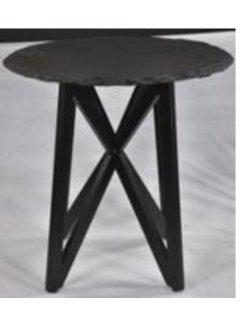 Livingfurn DT - Marble Round Tumbled Black 80cm