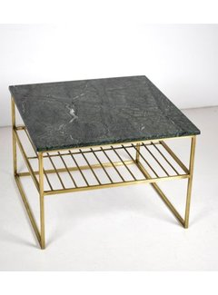 Livingfurn CT - Square Marble Black Gold 55cm