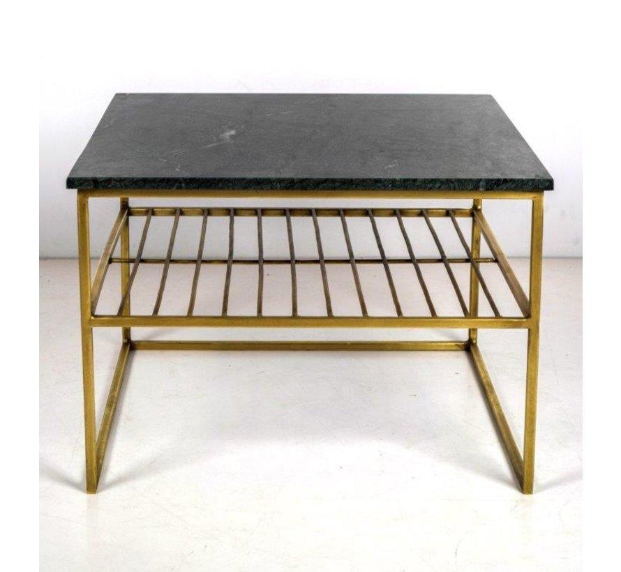 CT - Square Marble Black Gold 55cm