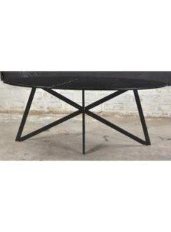 Livingfurn DT- Marble Oval Web  Black 210cm