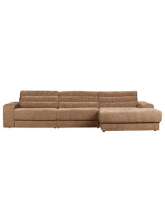 BePureHome Date Chaise Longue Rechts Vintage Fluweel Syrup
