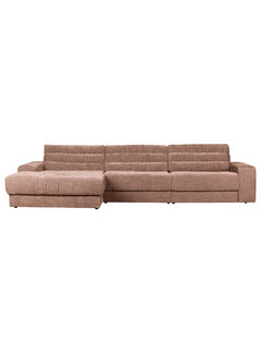 BePureHome Date Chaise Longue Links Vintage Fluweel Blush
