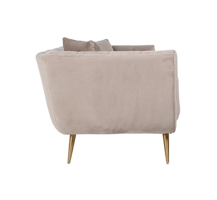 Bank Huxley Khaki velvet / Brushed gold (Quartz Khaki 903)