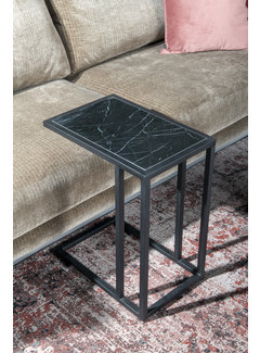Livingfurn CT - Marble Sofatable Black Black