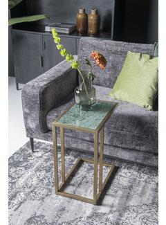 Livingfurn CT - Marble Sofatable Green Gold