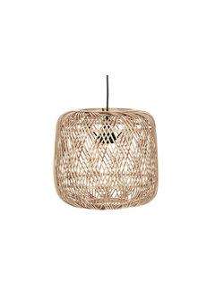 WOOOD Moza Hanglamp Bamboe Naturel 70x70cm