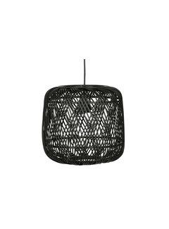 WOOOD Moza Hanglamp Bamboe Zwart 70x70cm