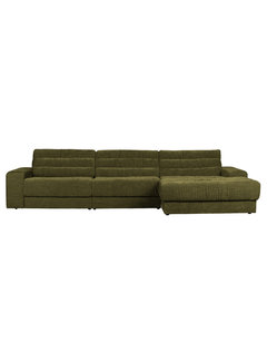 BePureHome Date Chaise Longue Rechts Vintage Groen