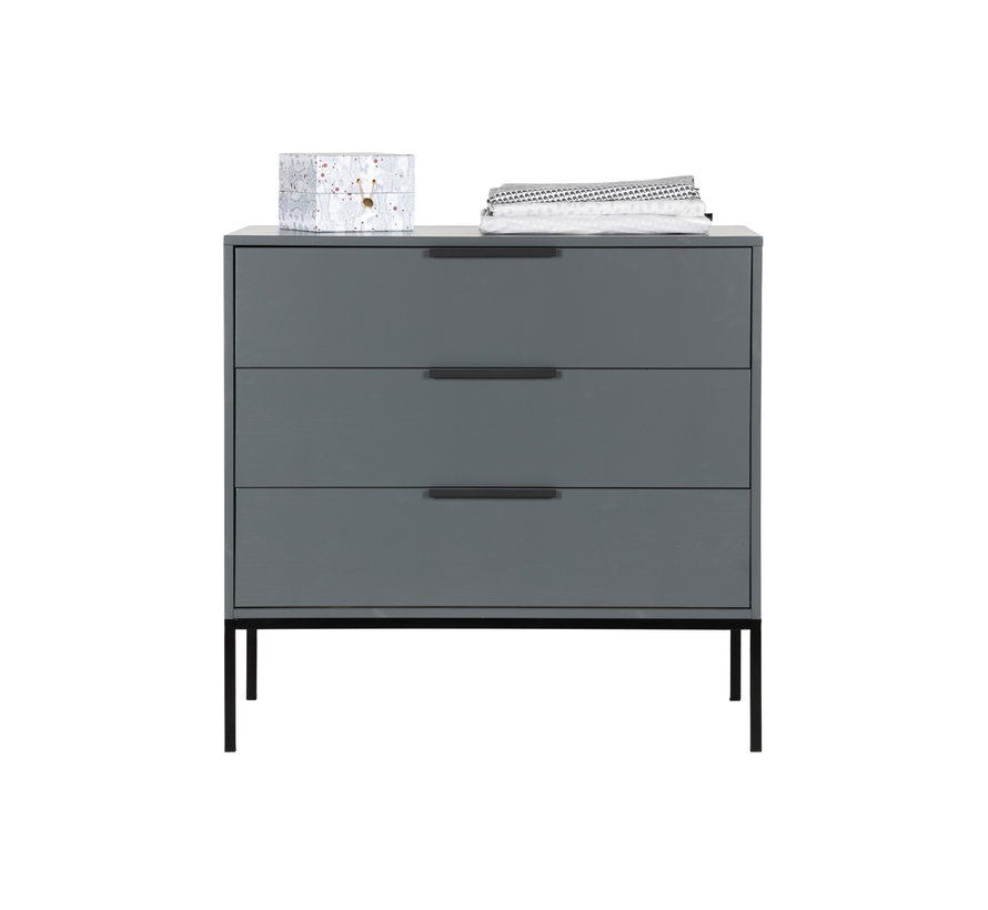 Adam Ladekast Grenen Steel Grey [fsc]