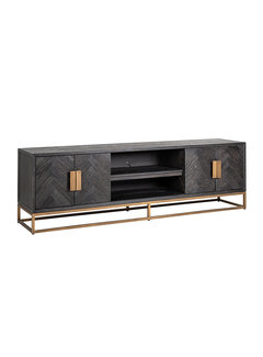 Richmond Interiors TV-dressoir 200 Blackbone Brass 4-deuren (Brushed Gold)