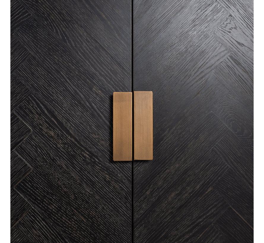 Dressoir Blackbone Brass 4-deuren + open vak (Brushed Gold)