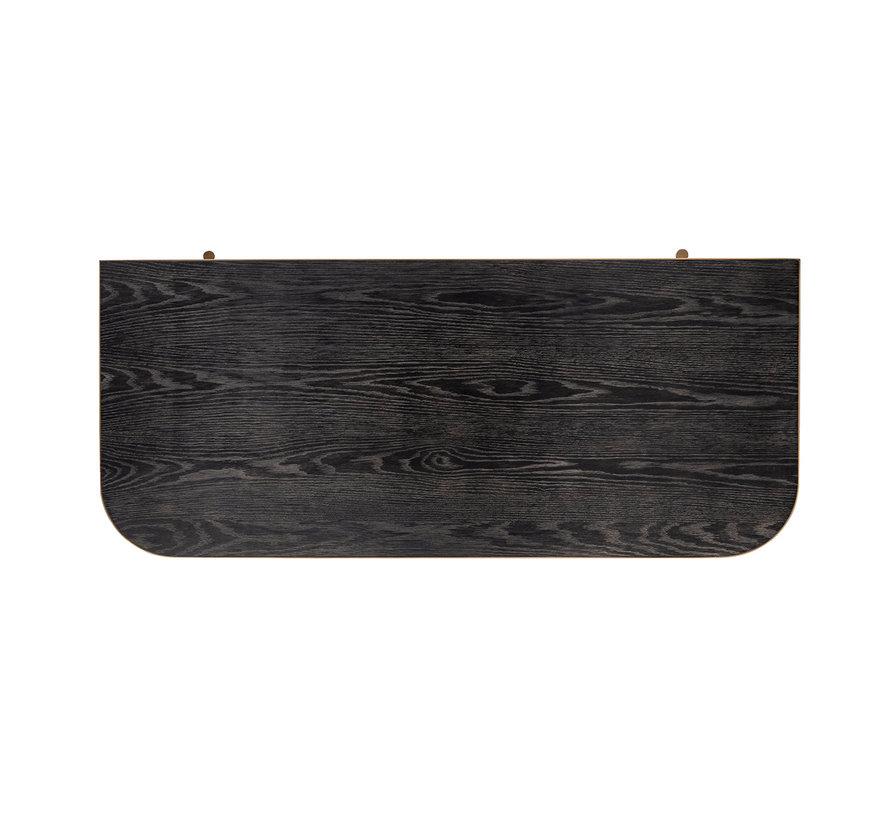 Bureau Classio 2-laden Vegan Leather (Brushed Gold)