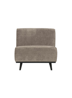 BePureHome Statement Fauteuil Brede Platte Rib Clay