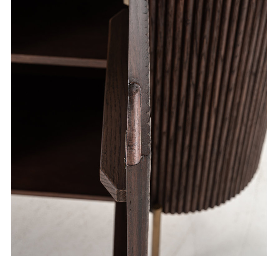Dressoir Barkley 3-deuren faux marmer (Brushed Gold)