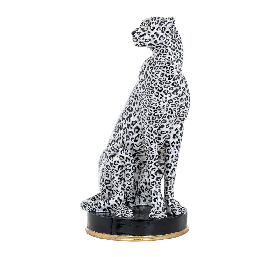 Cheetah deco object (White)