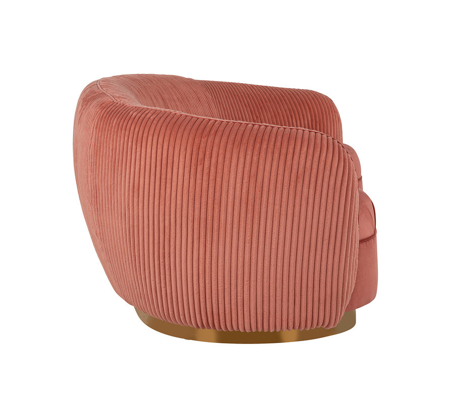 Bank Waylon Pink velvet + rib (Roze)