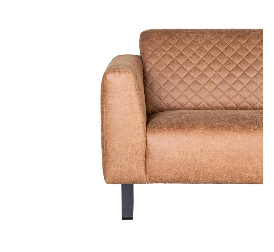 Bank Nola - Cognac - Microfiber - 3-Zits