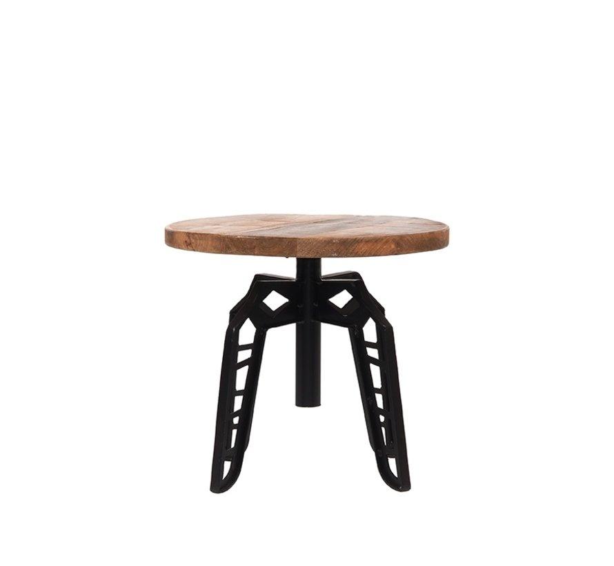 Bijzettafel Pebble - Rough - Mangohout - Rond - 45 cm