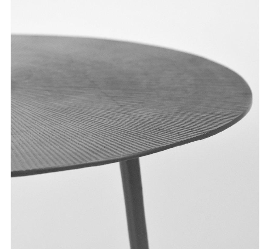 Bijzettafel Nobby - Zwart - Metaal - 40 cm