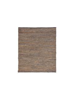 LABEL51 Vloerkleed Brisk - Antraciet - Natuurlijk materiaal - 140x160 Cm