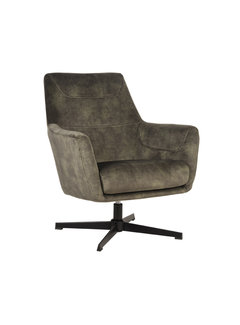 LABEL51 Fauteuil Toby - Hunter - Velours