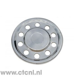 Stainless steel lock ring rear wheel hub cap closed 22.5