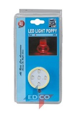 Led-licht Poppy rood
