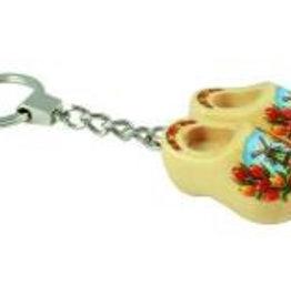 Schlüsselanhänger 2 Clogs mit Tulpen