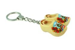Keychain 2 clogs with tulip varnish