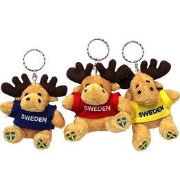 Schlüsselanhänger Plüsch Elch 'Sweden'