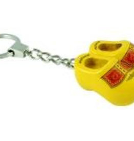 Sleutelhanger 2 klompen geel (boer)