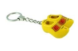 Schlüsselanhänger 2 Clogs gelb (Bauer)