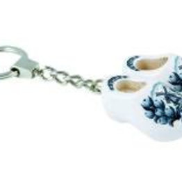 Schlüsselanhänger 2 Clogs Delft Blau