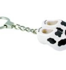 Keychain with 2 clogs cow