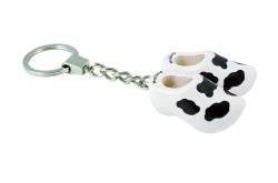 Sleutelhanger 2 klompen met koeienvlekken