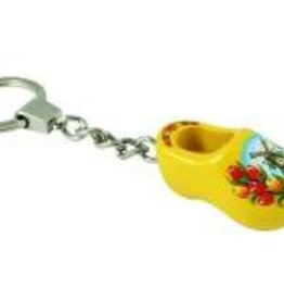 Keychain clog with tulips