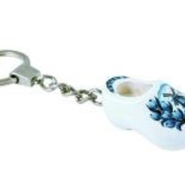 Key ring clog Delft blue