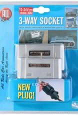 All Ride All Ride 3-Wege-Steckdose mit Ein-Aus-Schalter