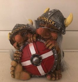 Troll behind the Denmark shield