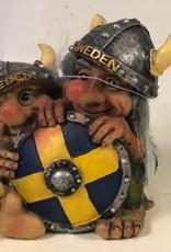 Troll hinter dem Schild Schweden
