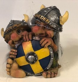 Troll behind shield Sweden