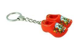 Schlüsselanhänger 2 Clogs mit Tulpenlack