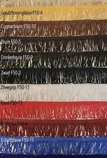 Raamband in Deense stof TYPE 1 met DUBBEL 8 cm viscose franjes