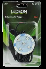 Ledson - POPPY LED - Rood met directe aansluiting -10-40V
