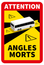 Magneetsticker Attention Angles Mortes - Copy