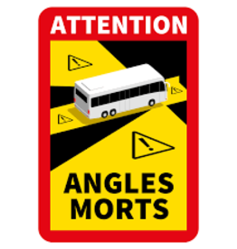 Magneetsticker Attention Angles Mortes